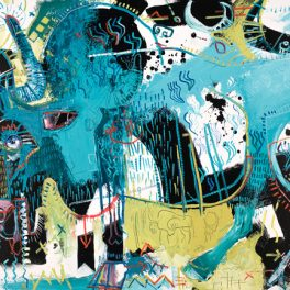 gaur mcclendon modern art river arts district animals abstract