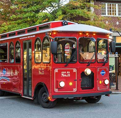 Ride the Free Trolley around the River Arts District on Second Saturdays and Studio Stroll!